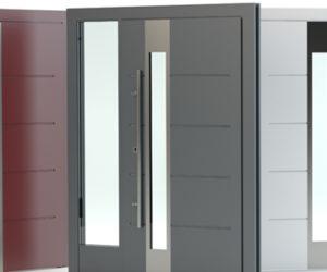Portes d'entrée en aluminium thermolaqué